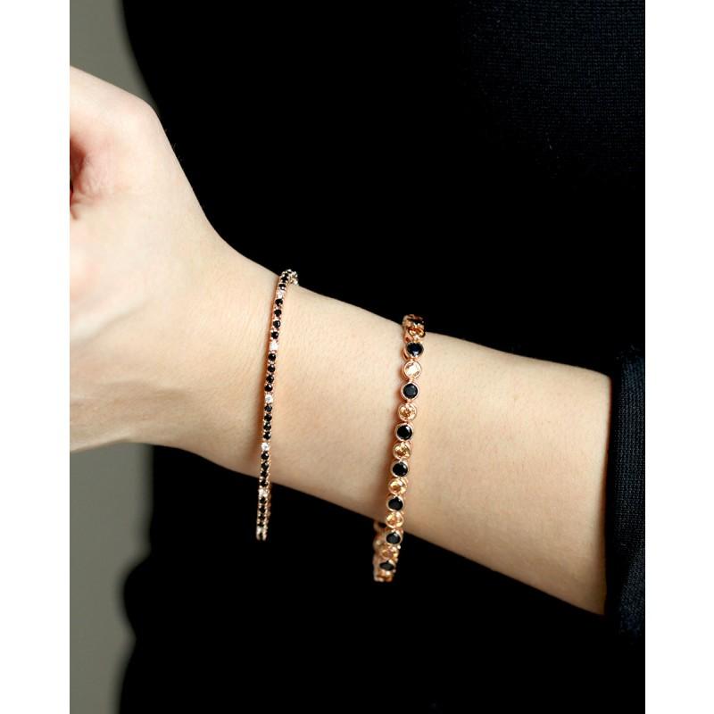 Madeleine - rose Armband schwarz champagner am Handgelenk mit Armband Elisabeth