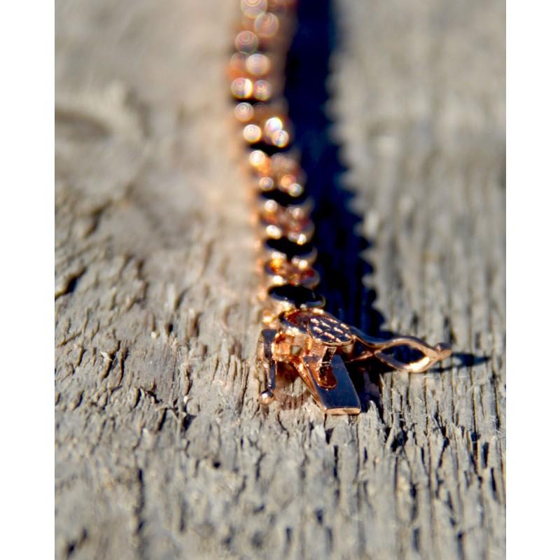 Armband Madeleine rosegold schwarz champagner Verschluss