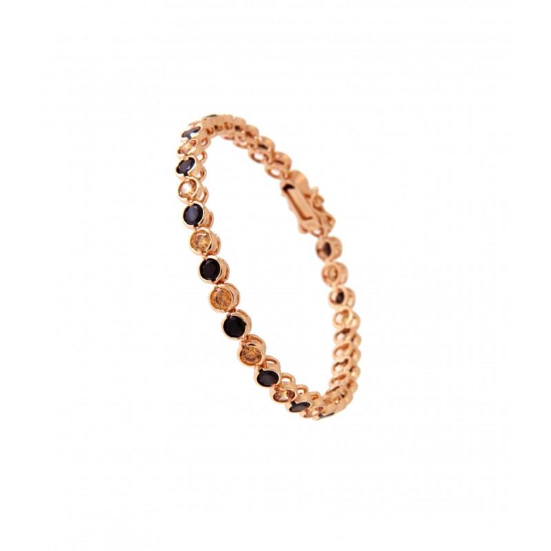 Armband Madeleine rosegold schwarz champagner
