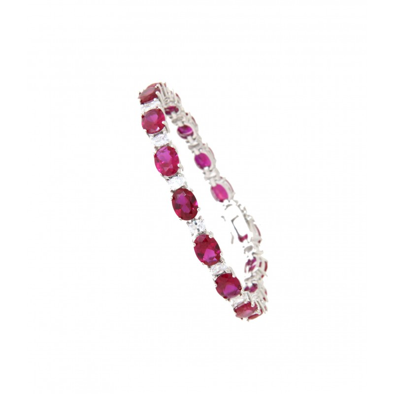 Armband Sissi Sterling Silber pink