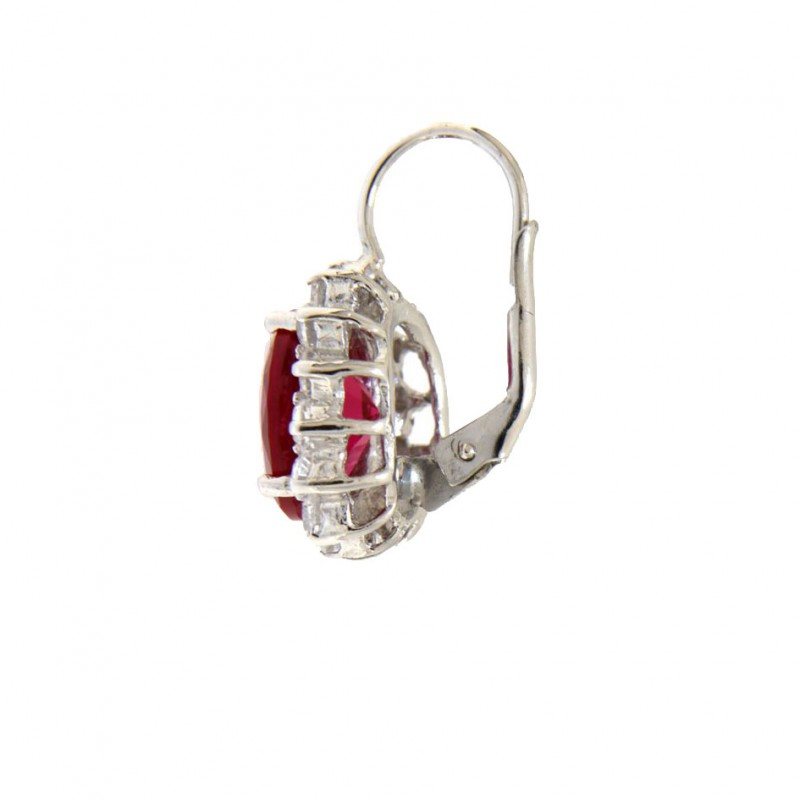 Ohrring Sissi Sterling Silber pink seitlich