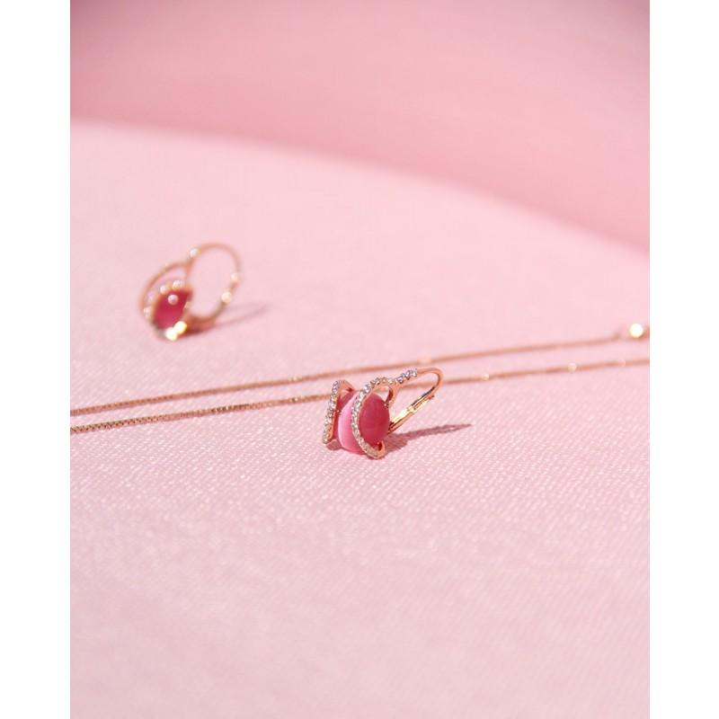 Ohrringe Mia rosé pink seitlich
