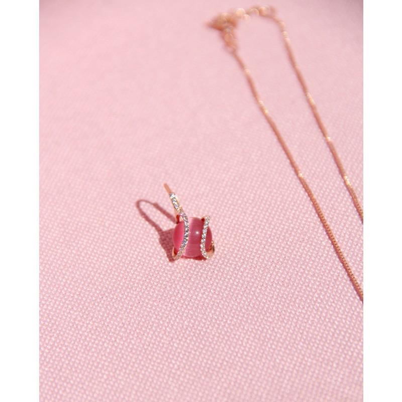 Ohrring Mia rosé pink einzeln frontal