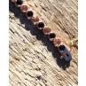 Armband Madeleine rosegold schwarz champagner Verschluss von oben