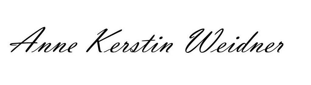 Namenszug Anne Kerstin Weidner