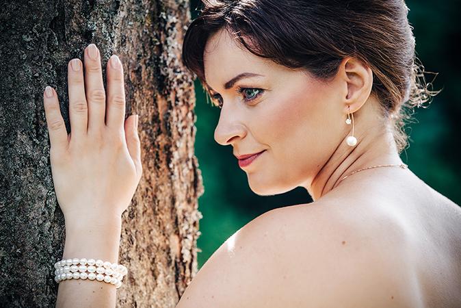 Braut Ohrringe Perlen modern