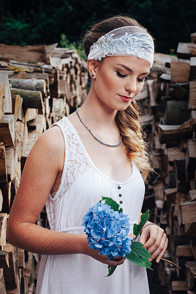 Brautschmuck blau - etwas blaues für die Braut
