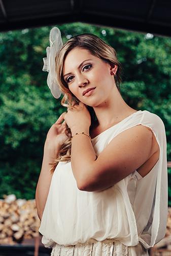 Brautohrringe in blau und passendes Armband - Brautschmuck in blau